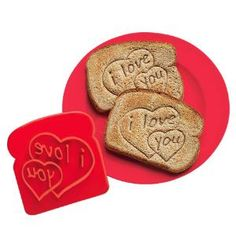 I Love You Toast Stamp. would be cute to use with my french toast stamp. :)