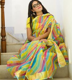Printed Kota Doria Sarees - Kota Doria Samudhar Lehriya By Royal Roots PC 19922 - Thumbnail