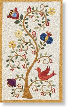 Tree of Life block in Pennsylvania Dutch Delight, designed by Karen Ann Grabowski for Black Sheep Quilts