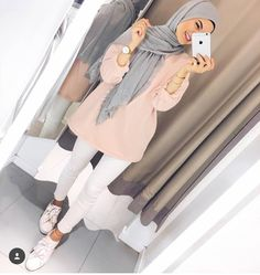 - scarf is a vital piece while in the clothes of ladies together with hijab. Hijab Fashion Summer, Modern Hijab Fashion, Street Hijab Fashion, Hijab Fashion Inspiration, Muslim Fashion, Mode Inspiration, Fashion Outfits, Fashion Fashion, Latest Fashion