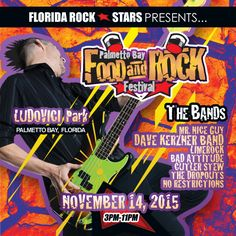Florida Rock Stars | 4th annual Palmetto Bay Food and Rock Festival – Nov 14