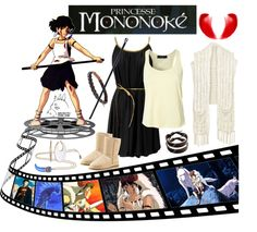"""AMAZING MIYAZAKI'S WOMEN - Princesse Mononoké"" by veronica-sinetti on Polyvore"