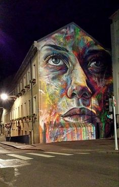 Street Art by David Walker in Nancy, France 3d Street Art, Grafitti Street, Urban Street Art, Amazing Street Art, Street Artists, David Walker, Yarn Bombing, Graffiti Art, Fresco