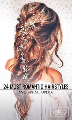 Wedding Hairstyles ❤ Whether you are looking for a long hairstyle, half up half down or bun style, we are sure to have something for you.  See more: http://www.weddingforward.com/romantic-bridal-updos-wedding-hairstyles/