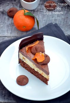 Sweets Recipes, Easy Desserts, Cake Recipes, Homemade Chocolate, Chocolate Desserts, Strawberry Layer Cakes, Orange Mousse, Romanian Desserts, Mousse Cake
