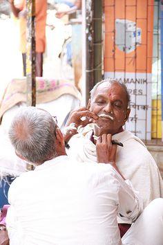 The Muslim Street Barber ..