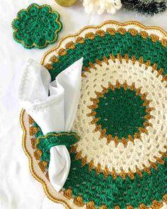 Crochet Books, Crochet Home, Free Crochet, Crochet Placemats, Crochet Doilies, Yarn Projects, Crochet Projects, Doily Patterns, Crochet Patterns
