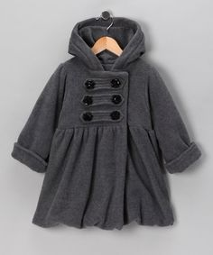 Take a look at this Charcoal Mary-Jayne Coat - Toddler & Girls by Corky & Company on #zulily today!#FALL