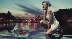 Beauty lady with gold fish by conrado, via Shutterstock Best Free Wordpress Themes, Leo Rising, Cogito Ergo Sum, Goldfish, Reiki, Hd Wallpaper, Wallpapers, Photo Editing, Stock Photos
