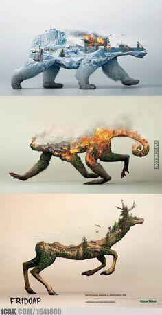 merusak lingkungan sama saja merusak kehidupan kita