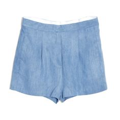 sensational pleated denim shorts (217,700 KRW) ❤ liked on Polyvore featuring shorts, bottoms, women, jean shorts, pleated denim shorts, short jean shorts, short denim shorts and pleated jean shorts