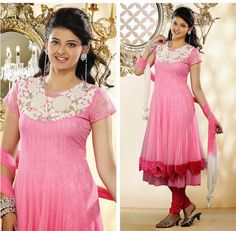 Adorable Deep Pink & Deep Scarlet Red Salwar Kameez | StylishKart.com