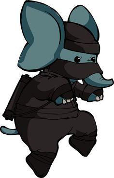 elephant ninja... Heehee
