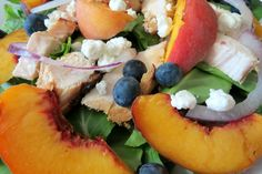 Blueberry Peach Chicken Salad