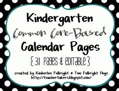 Kindergarten Goodies