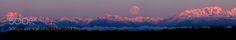 Olympic Moonset Pano by jbrichter21 via http://ift.tt/1QdJ5BC