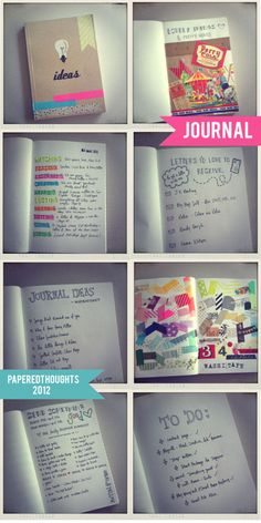 Journal inspiration - cute blog but does not give the exact link to this post