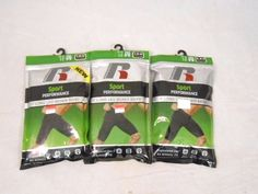 Russell Sport Performance Long Leg Boxer Brief- Small (28-30)- Lot of 3 #Russell #BoxerBrief