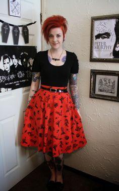 Coffin Kitsch: This Robot Skirt is Fun!