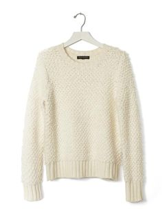 Stitch Crew Pullover | Banana Republic - $89.50