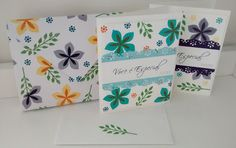 Card kit using Flower Patch stamp set by Stampin' UP.