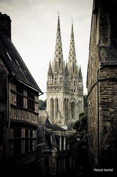 Cathédrale Saint-Corentin, #Finistère, #Bretagne, #Brittany, France