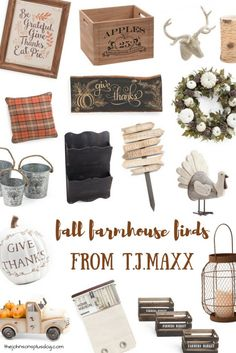Fall Farmhouse Finds From T.J.Maxx | Fall Home Decor | Autumn Home | Farmhouse…