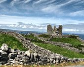 Norman Period Granite Built Castle  Inis Oirr Ireland.Max D/load : 4.57Mb.Jpg. 2816 X 2112Px 15x11Ins. Matting / frame for illustration only