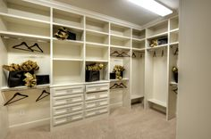 A spacious #master #closet off the #master #bath is the perfect place to store all your items, while creating privacy.