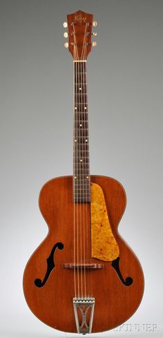 This would have to be the best design Kay ever made. American Archtop Guitar, Kay Musical Instrument Company, Chicago, c. 1950 - 1 of 3