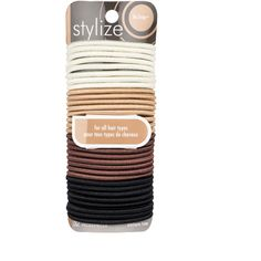 Stylize Shiny No Snag Elastics, Assorted: These No Snag shiny elastics glide on and off any ponytail with ease and without pulling or tugging. These elastics have no metal parts, and are designed for all hair types. Luxury Beauty, Hair Ties, Metal, Hair Accessories, Shop, Products, Ribbon Hair Ties, Metals, Hair Tie