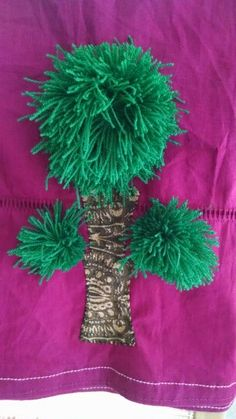Pom pom tree patch and applique log Pom Pom Tree, Applique, Patches