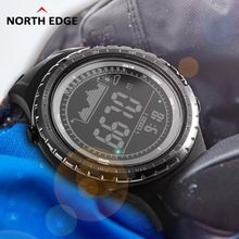 Just Pedometer Watch Waterproof Digital Altimeter Compass Barometer Pedometer Led Watch Outdoor Sports Climbing Running Sports Watch Finely Processed Pedometers