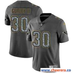 Men's Nike Los Angeles Rams #30 Todd Gurley II 2019 Gray Fashion Static Limited Stitched NFL J