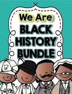 Black History Month https://www.teacherspayteachers.com/Product/Black-History-Month-1072304
