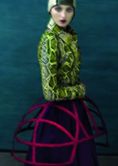 Georgina Stojiljkovic by Sarah Moon (Colorful Realm - Grey #4 Spring-Summer 2011) 3