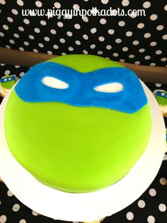 Cake at a Ninja Turtle Party #ninjaturtle #partycake