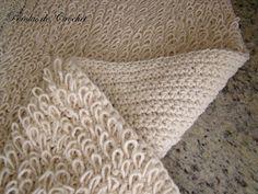 * Pérolas do Crochet: Tapete de Croche feito com barbante - Ponto Argola
