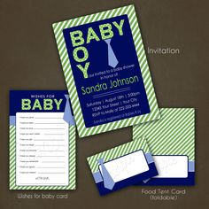 #BabyShowerInvitation Little Man Baby Shower Printable Invitations / Wishes for Baby / Food Tent Cards baby shower invitation little man tie blue and green little man shower baby boy for boy food tent cards place cards wishes for mommy printable package DIY 22.00 USD PinkSkyPrintables