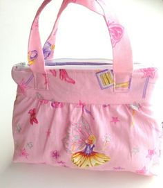 Toalettmappe med søte feer Diaper Bag, Sewing, Bags, Fashion, Pink, Handbags, Moda, Dressmaking, Couture