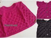 TIRTIKLI KENARLI BAKLAVALI MODEL YELEK Crochet Dinosaur Patterns, Baby Knitting Patterns, Tulum, Organic Baby, Quilts, Sweaters, Fashion, Crochet Pants, Sweatshirt