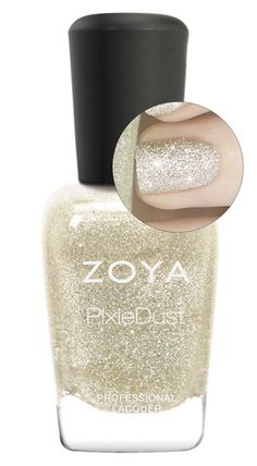 Zoya PixieDust Nail Polish in Tomoko - a gorgeous champagne silver! Arriving this August to a salon or spa near you!