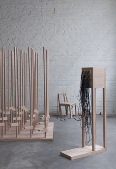 Graduation Project, Design Academy Eindhoven      -  Year - Jun.2013   Materials - beech, elastics   Size - Chair:30*30*60, Cabinet:20*25*90, Carpet:220*120*150(cm)  :output award 2014 – Selected    -      'Constructing Memory' is an investigation in...