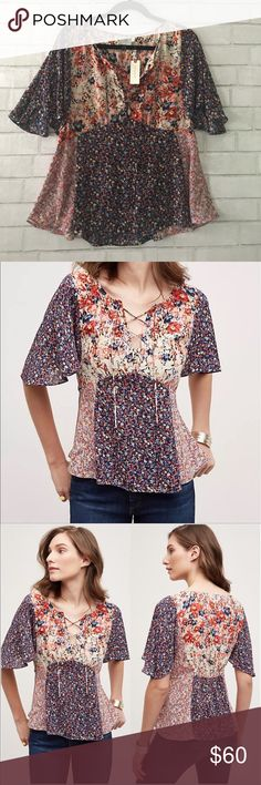 Anthropology HD in Paris Blouse Brand-new, size 12, flutter sleeve blouse. Anthropologie Tops Blouses