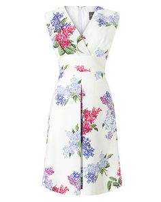 Phase Eight Lilac Flower Dress Multi