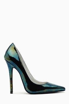 Darling Pump in Oil Slick by Jeffrey Campbell