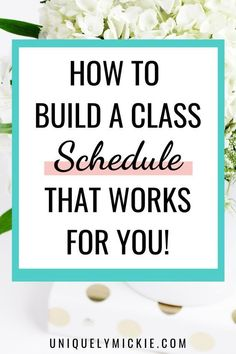 Having a good, solid class schedule in college is one of the easiest ways to set yourself up for success! In this blog, I share my top 10 tips on how to build the class schedule that you'll love #collegetips #collegehacks #onlineschool College Test, College Hacks, College Fun, Study Skills, Study Tips, College Survival Guide, Pharmacy School, How To Get Better, Class Schedule