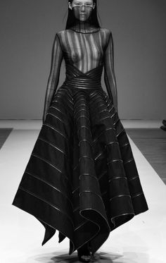 Sculptural Fashion - avant garde dress; dark futuristic fashion // Liberum Arbitrium S/S 2012