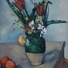 Giclee Print: Cezanne: Tulips Art Print by Paul Cézanne by Paul Cézanne : Paul Cézanne, Cleveland Museum Of Art, Art Institute Of Chicago, Paul Cezanne Paintings, Cezanne Art, Oil Paintings, French Artists, Art World, Find Art