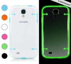 Hybrid luminous in dark transparent glow hard case cover for Samsung Galaxy S4